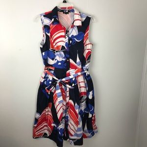 Talbots | Printed Shirt Dress with Belt